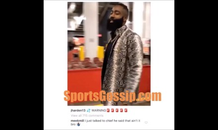 Meek Mill Comments on Harden's Suit