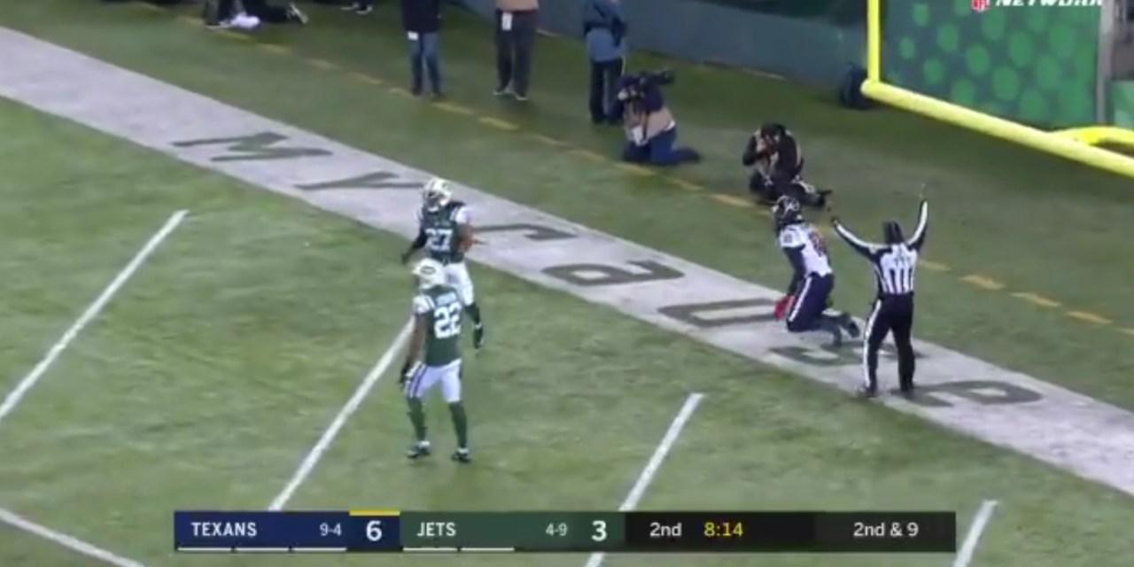Deshaun Watson Hit DeAndre Hopkins for a 45-Yard Touchdown