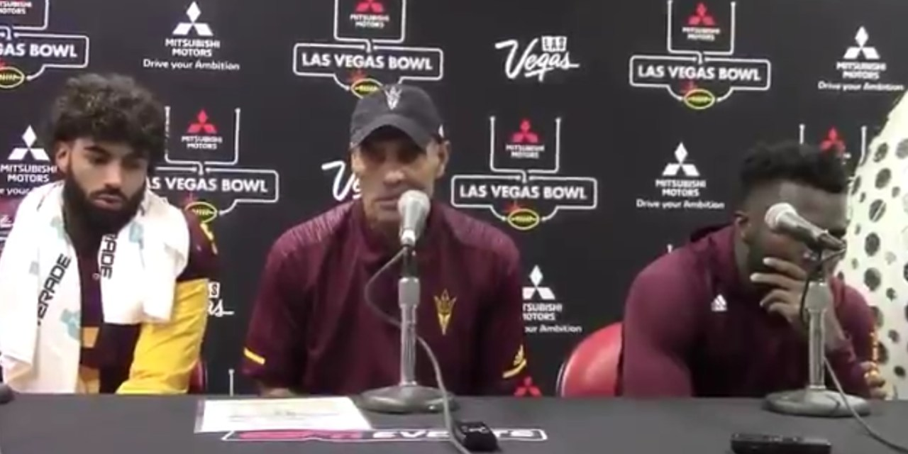 "Herm Edwards after Loss in the Las Vegas Bowl ""We Didn't Lose the Game We Just Ran Out of Time"""