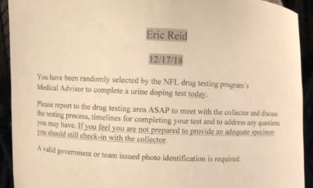 Eric Reid Drug Tested for a Seventh Time Since Joining the Panthers