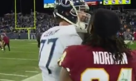 Taylor Lewan and Josh Norman Got in a Heated Physical Altercation after Titans Win
