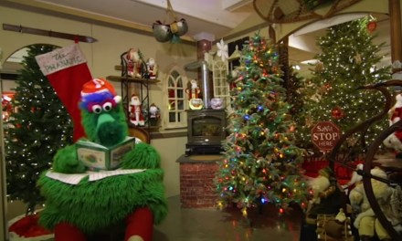 Spend Christmas Watching Two Hours of the Phillie Phanatic Yule Log