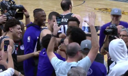 Kings' Bogdan Bogdanovic Nailed a Step Back Three Pointer at the Buzzer to Beat the Lakers