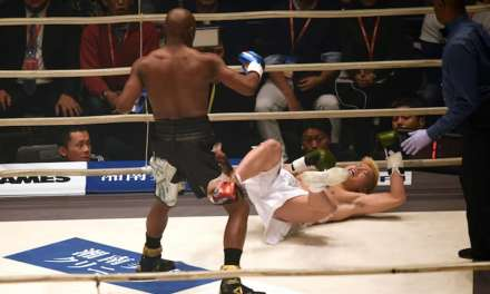 Floyd Mayweather Knocked out Tenshin Nasukawa Three Times in the in the First Round