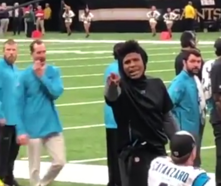 Cam Newton Threw a Kid's Dustpan Away and Saints Fans Aren't Happy About it