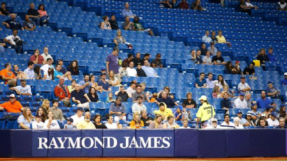 Tampa Bay Rays Eliminate Upper-deck Seating and 10,000 Total Seats