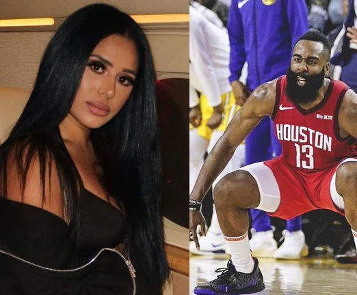 James Harden S Main Girl Arab Money Feeling His Triple Double Against The Warriors Sports Gossip