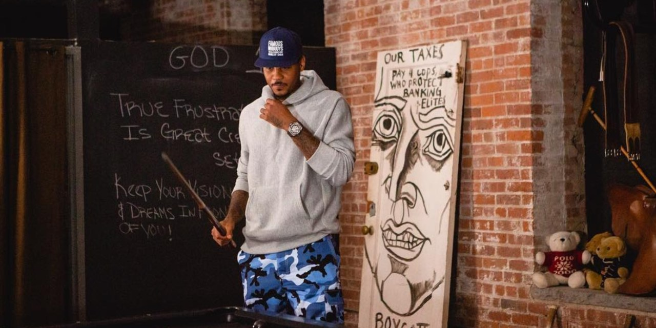 Carmelo Anthony Has Been Spending His Free Time Freeing His Mind