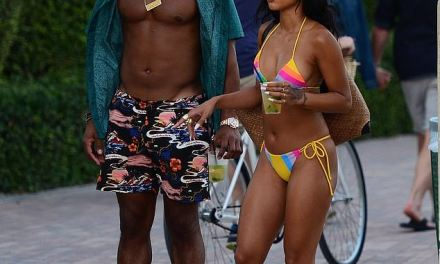 Victor Cruz and Girlfriend Karrueche Tran Continue To Spend Time at the Beach