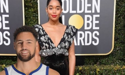 Picture of Klay Thompson with His Girlfriend Laura Harrier at Golden Globes After Party