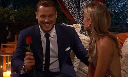Former NFL Player Colton Underwood Gives out First Rose on The Bachelor