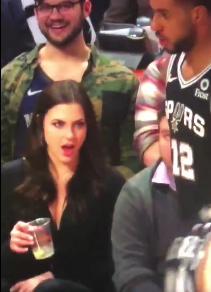 Lamarcus Aldridge Got Checked Out By Woman Sitting Courtside