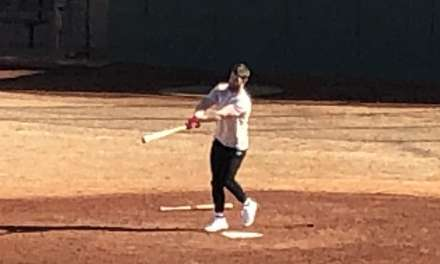 Bryce Harper and his Dad Spotted Hitting Balls at a Local Park