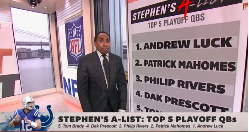 Stephen A. Smith Forget To Put Drew Brees On Top-5 Playoff QBs List