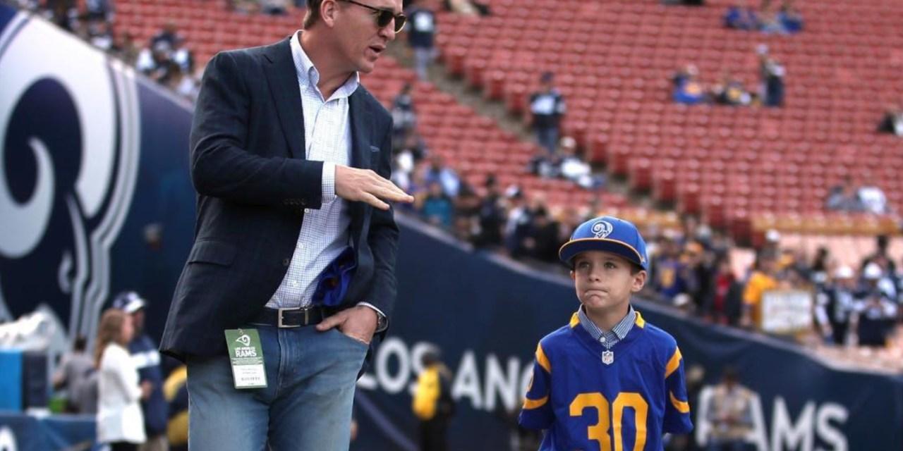 Peyton Manning's Son is a Rams Fan