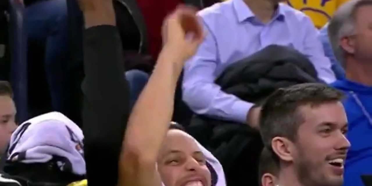 Kevin Durant and Steph Curry Clown Robin Lopez for His Three Point Celebration
