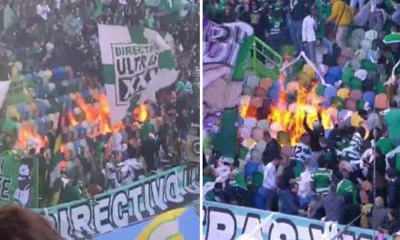 Soccer Fans Accidentally Torch Their Own Section