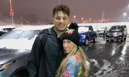 Patrick Mahomes and Brittany Matthews Celebrate His First Playoff Game Win