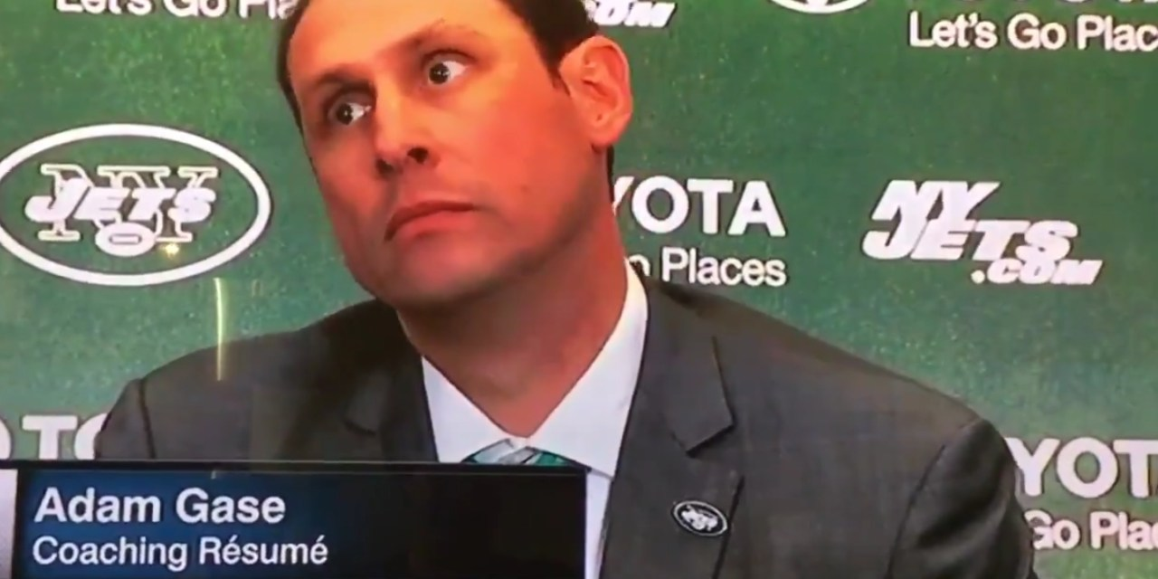 Adam Gase Displays Extremely Bizarre Behavior during Jets Introductory Press Conference