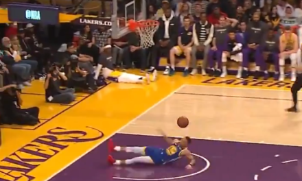 Steph Curry Fell Down on a Fastbreak Dunk Attempt then Airballed His Redemption Three Pointer