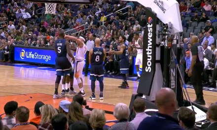 Devin Booker and Gorgui Dieng Get Ejected, Run to Fight in the Tunnel