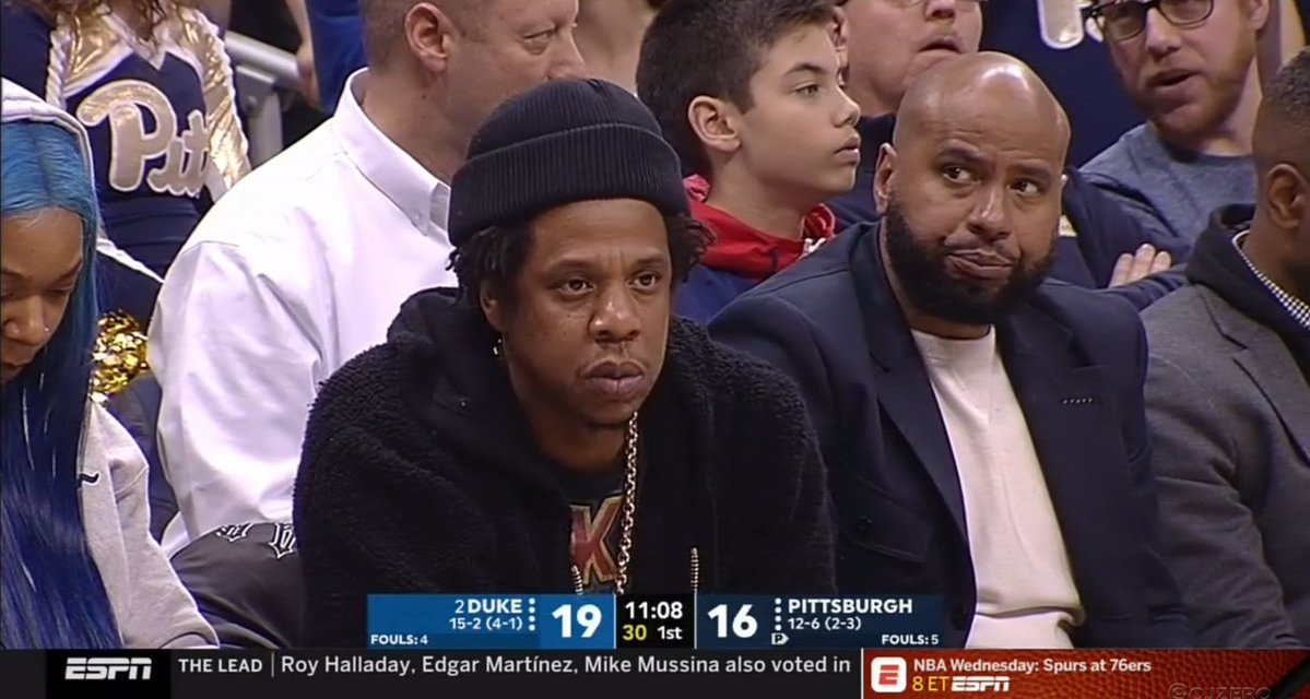 Jay-Z Checks out Zion Williamson and Takes in A Duke Victory