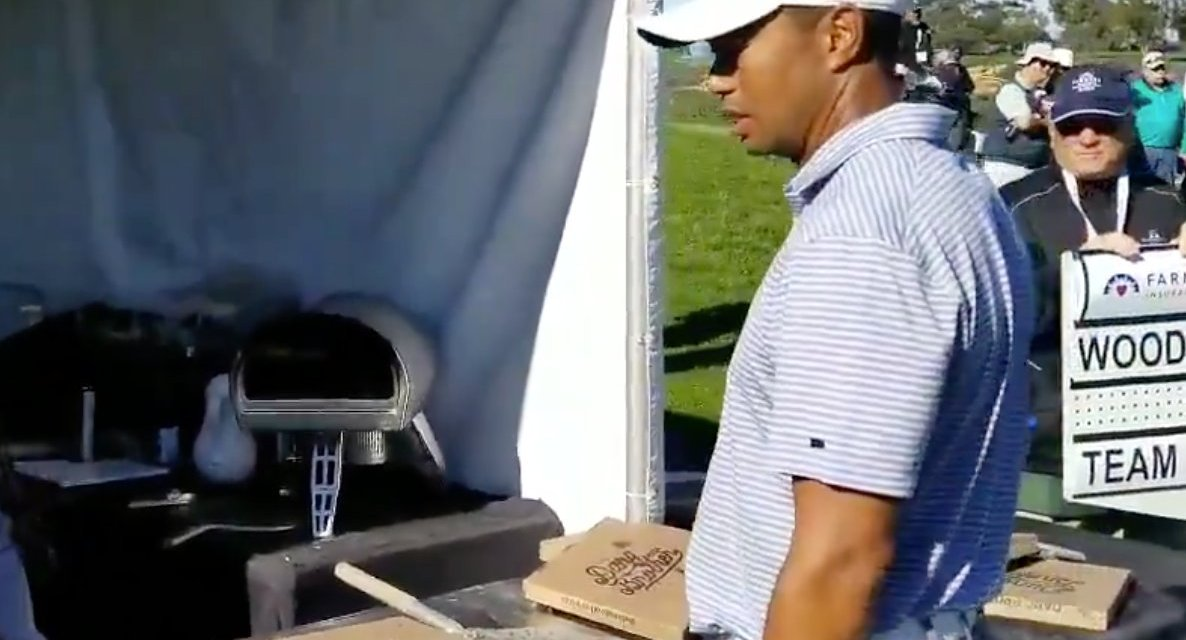 PGA Takes Down Video of Tiger Woods Getting Denied a slice of Pizza