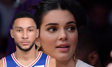 Kendall Jenner Made a Splash Courtside For Sixers Lakers Game