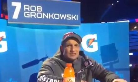 Looks like Gronk Misfired on His Latest Signature '69' Joke