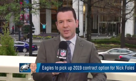 Eagles Expected to Pick Up Nick Foles' $20 Million Option