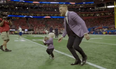 Conor McGregor and His Son Attended the Super Bowl in Matching Suits and Rooted on the Patriots