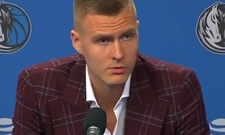 Kristaps Porzingis Practiced with the Mavericks for the First Time then Was Introduced to the Media