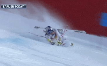 Lindsey Vonn Crashes in the Final Super-G Race of Her Career