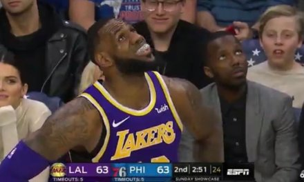 Kendall Jenner Caught Eyeing LeBron James during Sixers Win Over the Lakers