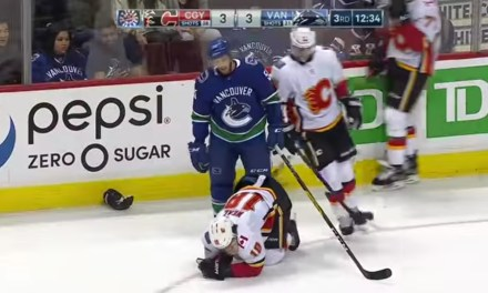 Flames Winger James Neal Lost a Few Teeth after Taking a High Stick to the Mouth
