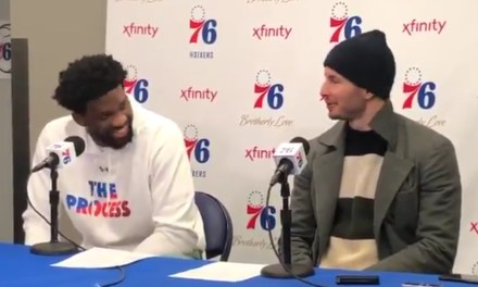 """Joel Embiid on Ben Simmons' Three Point Attempt """"I Was Like Oh Sh*t"""""""