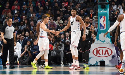 Steph Curry Throws Crazy Alley Oop to The Greek Freak at All-Star Sunday