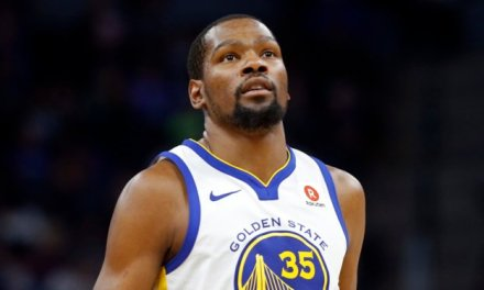 Kevin Durant Swatted a Buddy Hield Layup into the Kings Bench