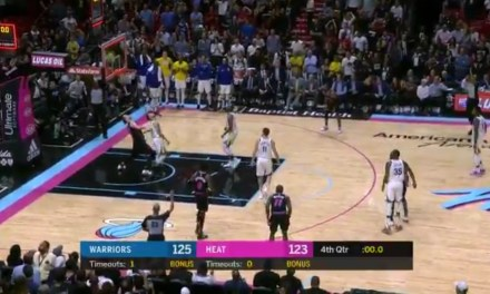 Dwyane Wade Beat the Warriors at the Buzzer with a Ridiculous Shot