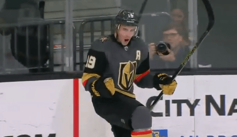 Golden Knights Winger Reilly Smith Went Between His Legs and the Goalie's Legs for an Incredible Goal