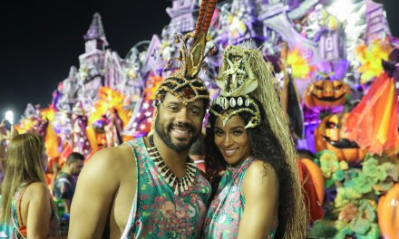 Russell Wilson and Ciara Head to Toe at Rio's Carnival
