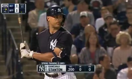 Giancarlo Stanton Hit His First Home Run of the Spring and it Left the Stadium