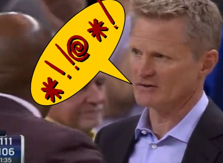 Cameras Catch Steve Kerr Going Ham with NSFW Comment About Draymond Green