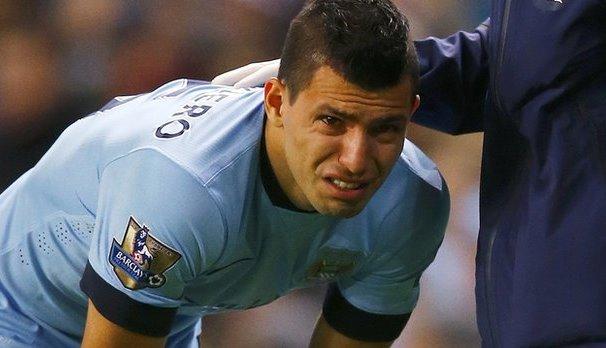 Sergio Aguero knee injury