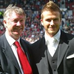 Beckham will play for his former manager Sir Alex Ferguson