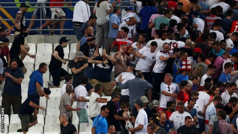 Russian soccer fans suspected of being involved in clashes