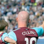 West Ham centre-back James Collins bid adieu to the game