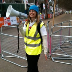 I volunteer as an on-course marshal at the BBC Sport Relief Mile