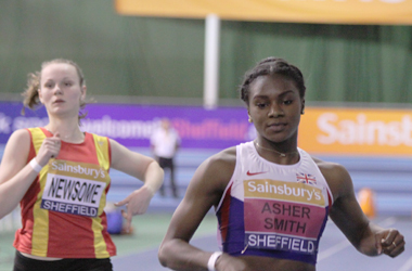 I promise you 60m sprint gold medalist Dina Asher-Smith has just finished a lung-busting race here