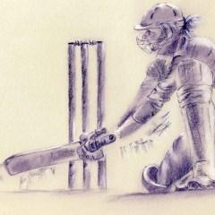Cricket lover turns artist